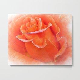 Watercolor Orange Bud  Metal Print