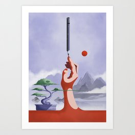 Create without Distraction Art Print