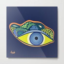 Green eye Metal Print