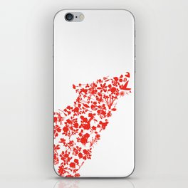 Wolf blooming iPhone Skin