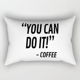 You Can Do It - Coffee Rectangular Pillow