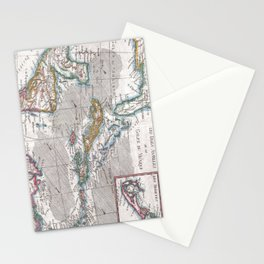 Vintage Map of The Caribbean (1780) Stationery Cards