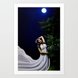 By the Light of the Moon Art Print