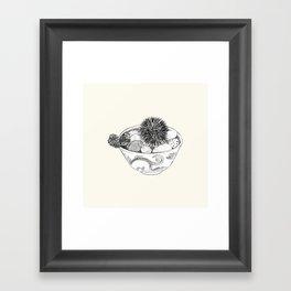 Chestnut Burr & Pottery Framed Art Print