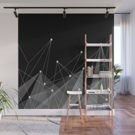 Black fractals Wall Mural