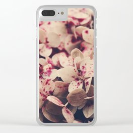 hydrangea - pink freckles Clear iPhone Case