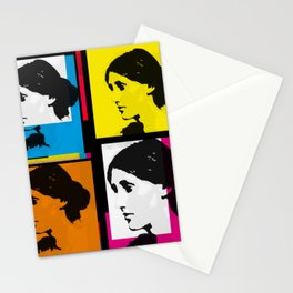 VIRGINIA WOOLF (FUNKY COLOURED COLLAGE) Stationery Cards
