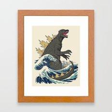 The Great Monster Off Kanagawa Framed Art Print