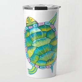 Tropical sea turtle - turquoise aqua blue Travel Mug