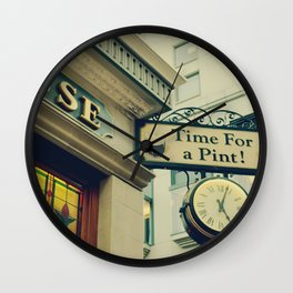It's time for a pint! Sign - Fine Art Photography Wall Clock
