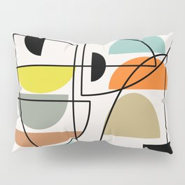 "Mid Century Modern ""Bowls"" Pillow Sham"