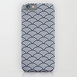 Navy Blue Wave iPhone Case