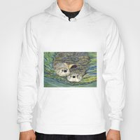 otters Hoodies featuring Pair of Otters by Sandra Dean Wilson