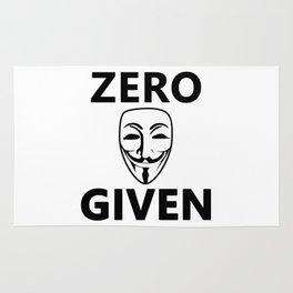 Zero Fawkes Given White Rug