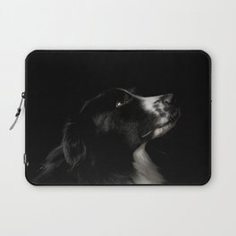 Border Collie Portrait - Bamboo Laptop Sleeve