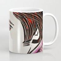elvis presley Mugs featuring Elvis Presley by Art By Ariel Cruz