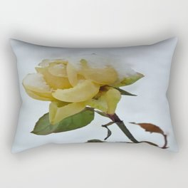 Rose in the Snow Rectangular Pillow