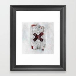 Cross my heart and hope .... Framed Art Print