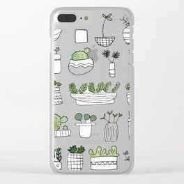 Spiky Succulents Clear iPhone Case
