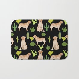Labrador Retriever yellow lab cute cactus southwest pet portrait dog breed desert Bath Mat