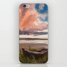 Sunrise over the lake iPhone & iPod Skin