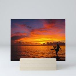 Sunset Isla Mujeres, Mexico Mini Art Print