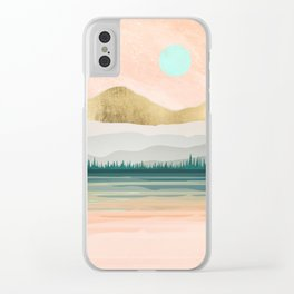 Spring Forest Lake Clear iPhone Case