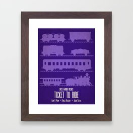 Ticket to Ride - Minimalist Board Games 07 Framed Art Print