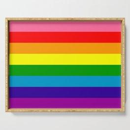 Rainbow Flag (Original Gay Pride Flag Colors) Serving Tray