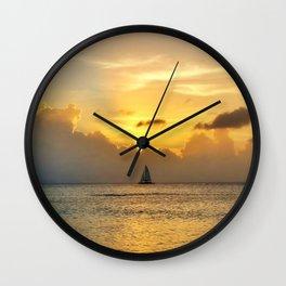 Sailing away to infinity. Wall Clock