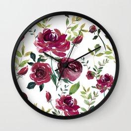 Climbing Roses Wall Clock