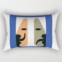 Joy and Sorrow of a life in one picture| The spirit of the living theatre Rectangular Pillow