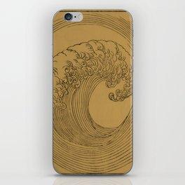 Vintage Golden Wave iPhone Skin