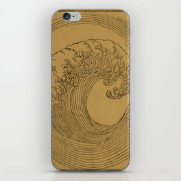 Golden Wave iPhone Skin