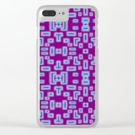 Stumble Blocks Clear iPhone Case