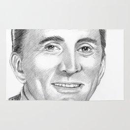 Kirk Douglas Portrait Rug