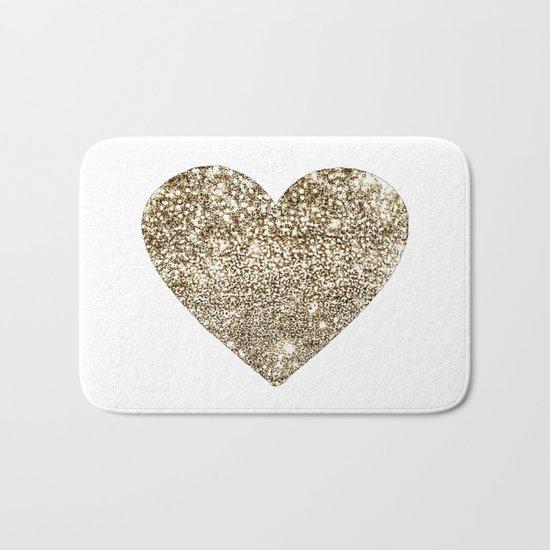 GOLD Heart-8 Bath Mat