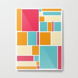 Blockalogue Series: Sunnyside Metal Print