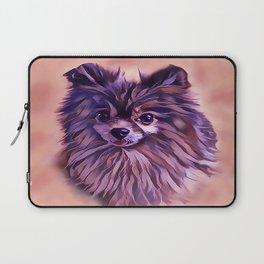 The Brindle Pomeranian Laptop Sleeve