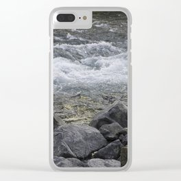 Rocks + river Clear iPhone Case