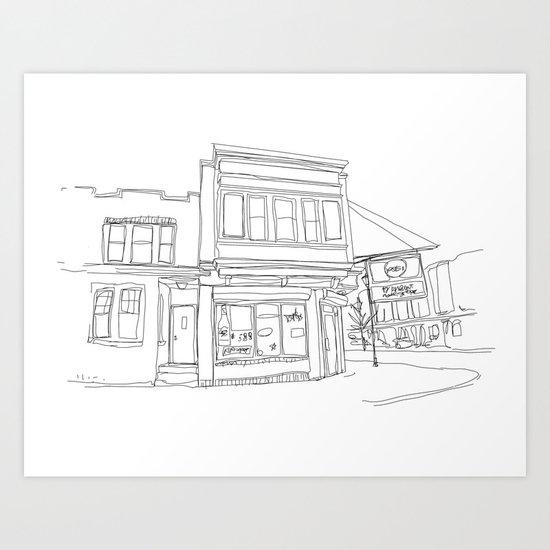Corner Store Art Print