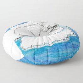 Polar Bear And Cub Floor Pillow