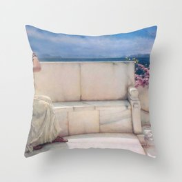 Expectations by Sir Lawrence Alma Tadema | Reproduction Throw Pillow