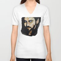 captain hook V-neck T-shirts featuring Hook by Brittany Ketcham