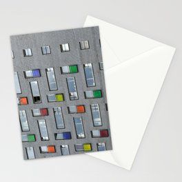 Coloured doors Stationery Cards