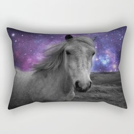 Horse Rides & Galaxy skies muted Rectangular Pillow