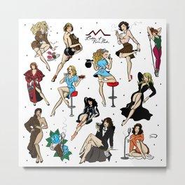 Ladies of Twin Peaks pattern Metal Print