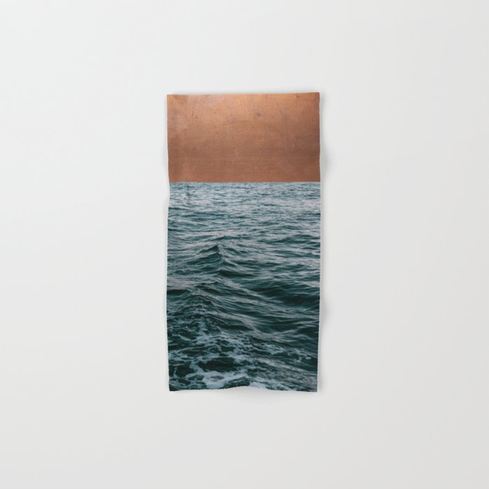 Ocean + Copper #society6 #buyart #decor Hand & Bath Towel