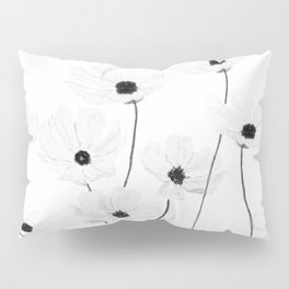 black and white cosmos Pillow Sham