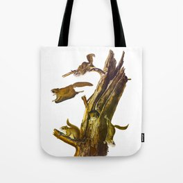 Flying Squirrel Vintage Hand Drawn Illustration Tote Bag